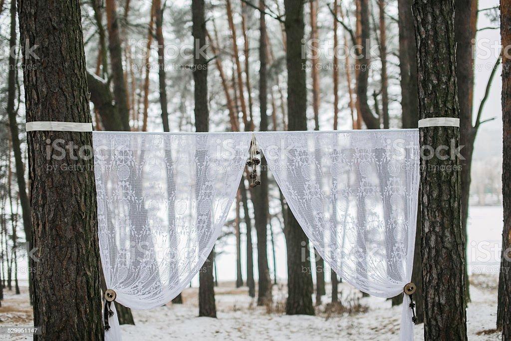 Winter Hochzeit Bogen – Foto