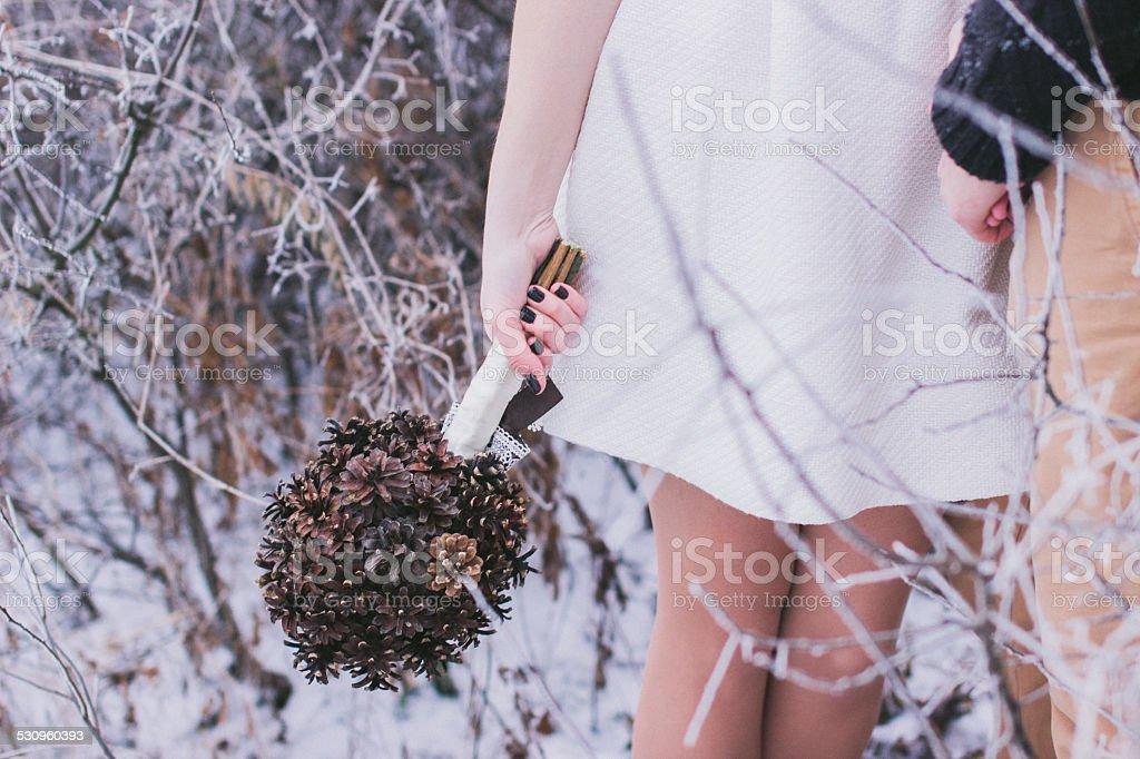Winter Hochzeit bouquet – Foto