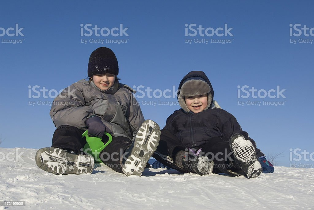 Winter weekend activity royalty-free stock photo