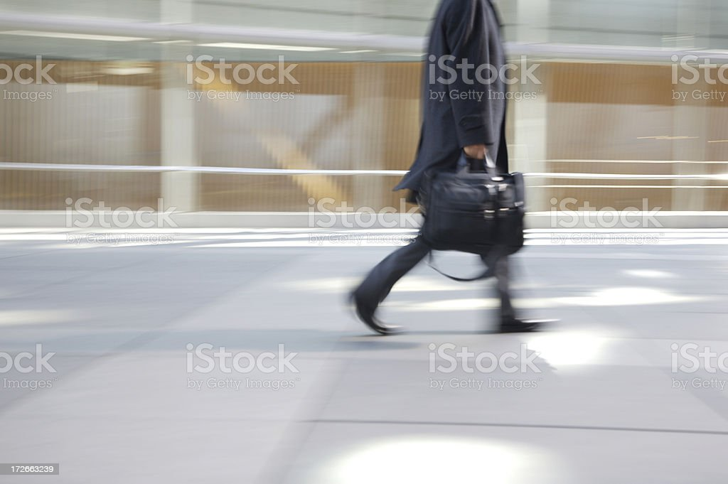 Winter white collar worker royalty-free stock photo