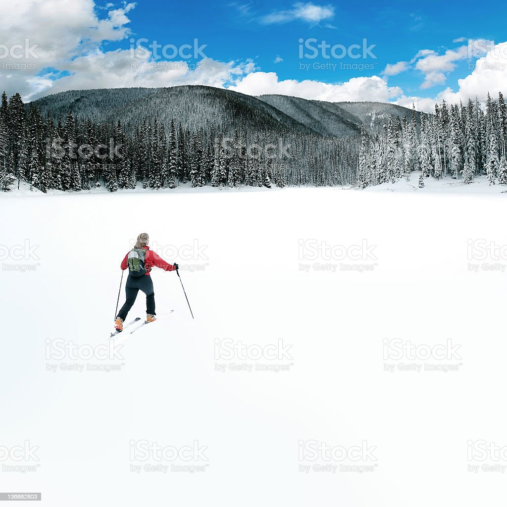 XL winter wilderness adventure stock photo