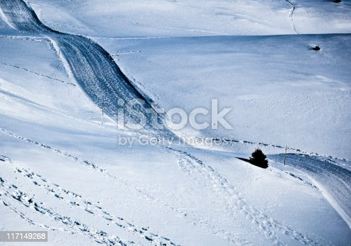 Winter Country Road Snow Landscape