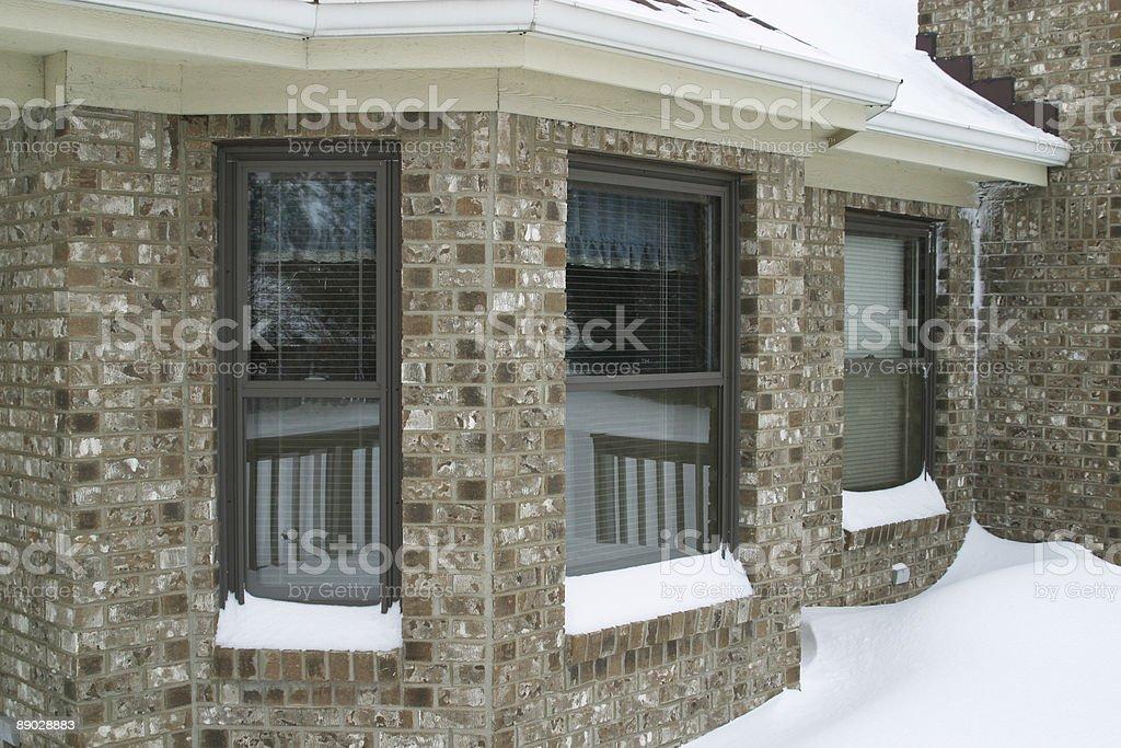 Winter Windows 2 royalty-free stock photo