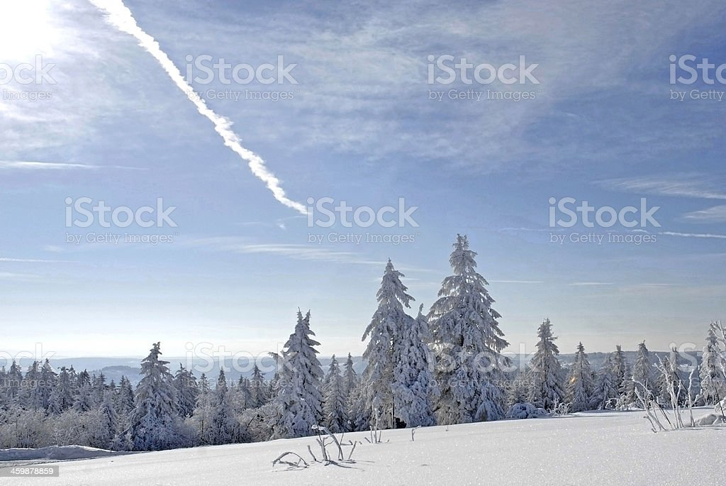 Winter with snow, Black Forest, Germany stock photo