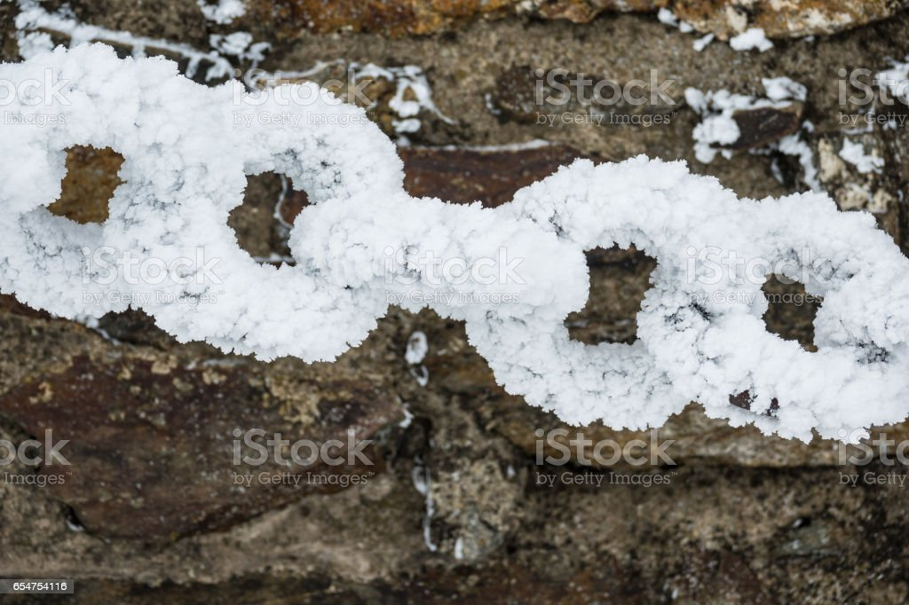 Winter with snow in the Giant Mountains stock photo