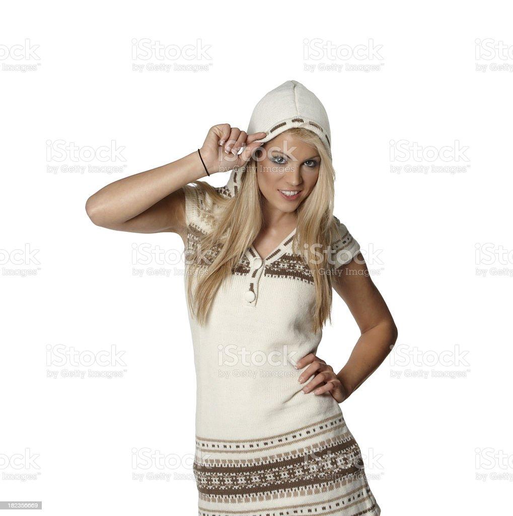 winter woman stock photo