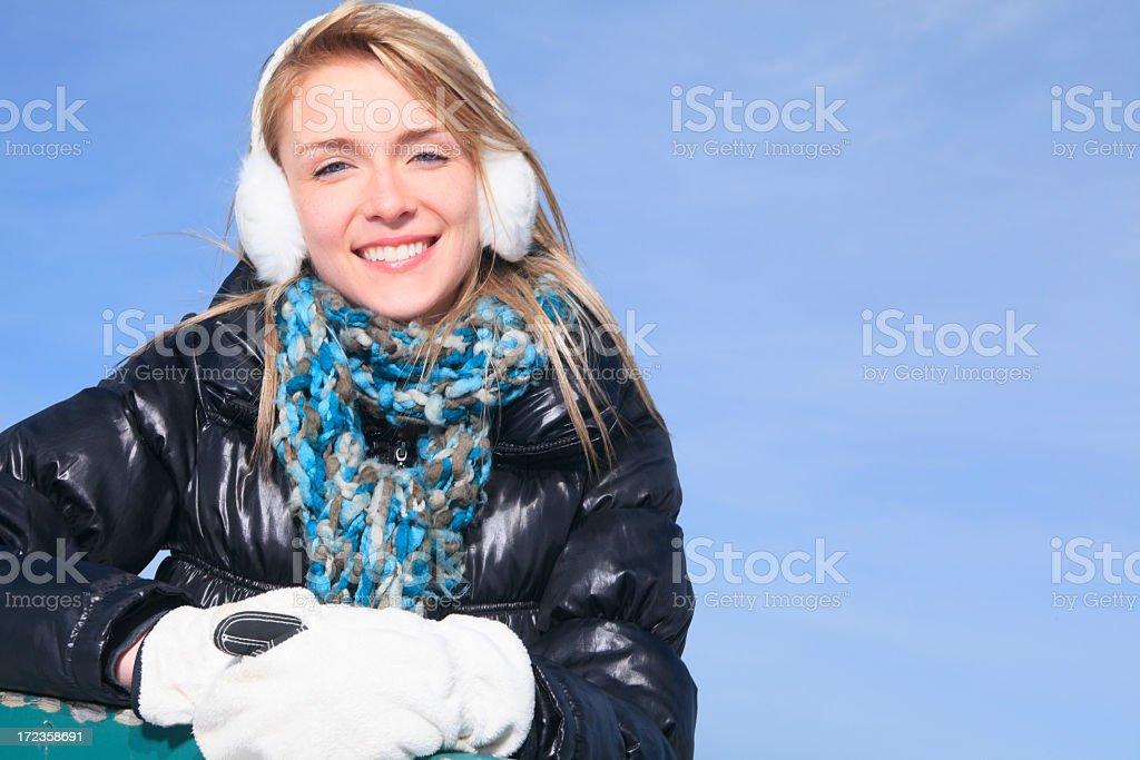 Winter Woman - Sky royalty-free stock photo