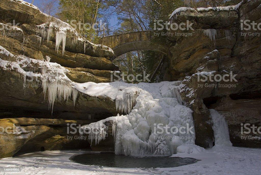 Winter Wonderland Hocking Hills stock photo
