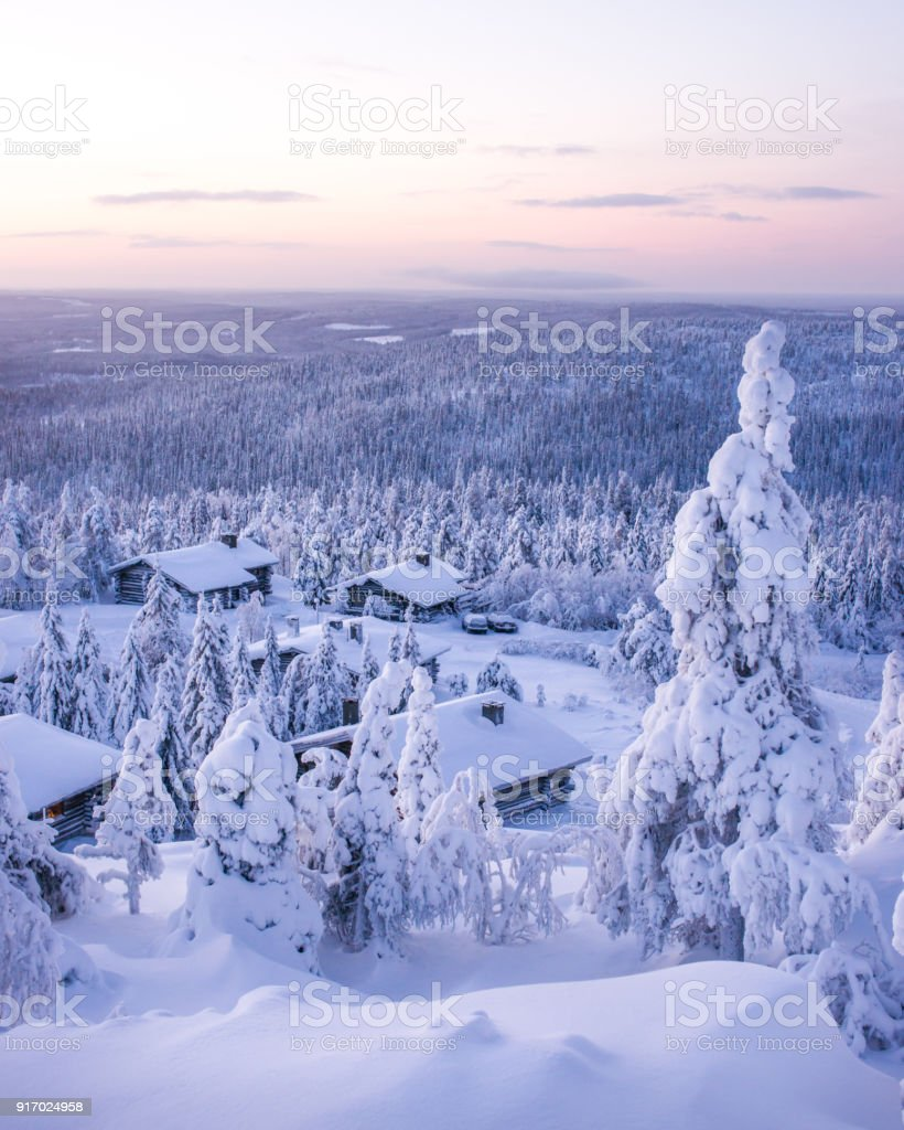 Winterlandschaft in Finnisch-Lappland – Foto