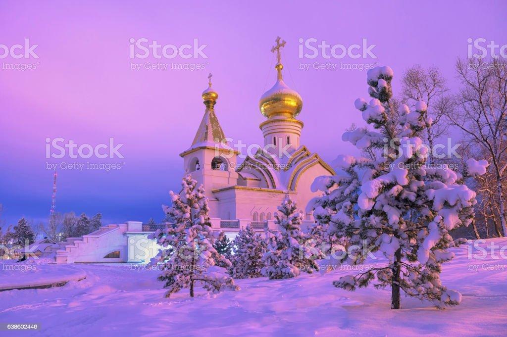 Winter wonderland in Khabarovsk. Far East, Russia. – Foto