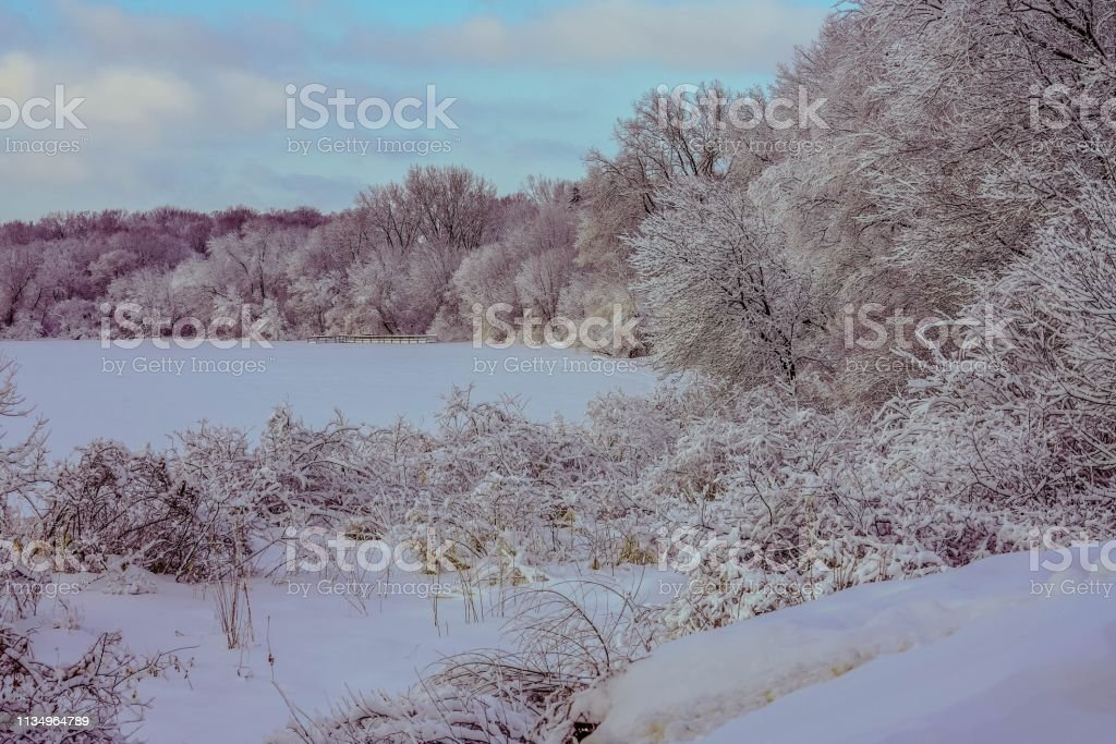Winter Wonderland in Minnesota stock photo
