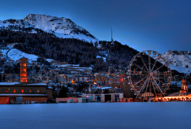 winterwunder in st.moritz - patrick hutter stock-fotos und bilder