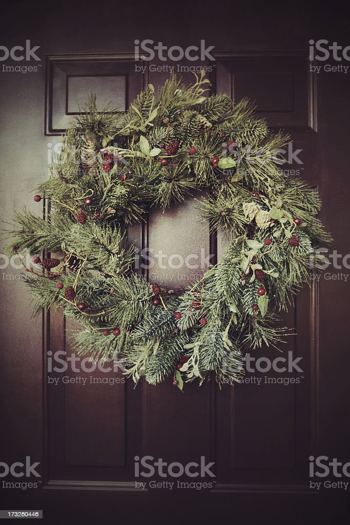 Winter wreath royalty-free stock photo