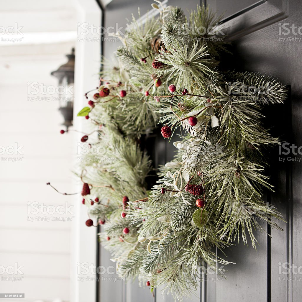 Winter wreath bildbanksfoto