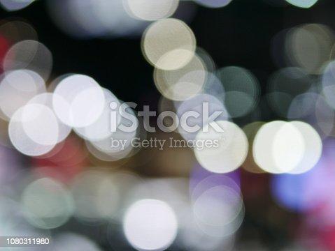 847752786 istock photo Winter xmas holiday lights background. 1080311980