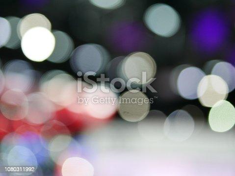847752786 istock photo Winter xmas holiday lights background. 1080311992