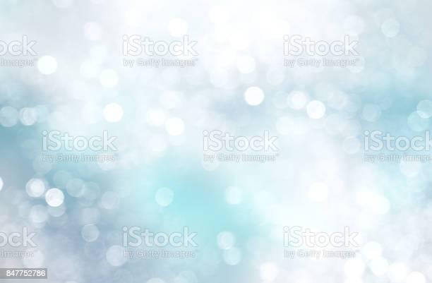 Photo of Winter xmas white blue background.