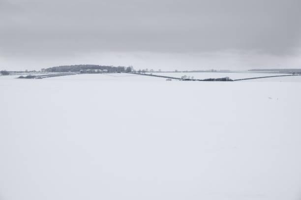 Winter Yorkshire Wolds Landscape. stock photo