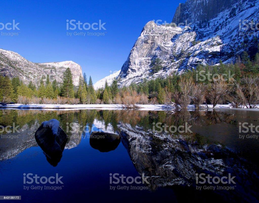 Winter Yosemite stock photo