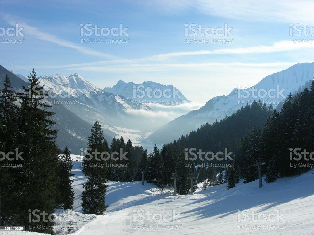 Winter Zugspitz Arena stock photo