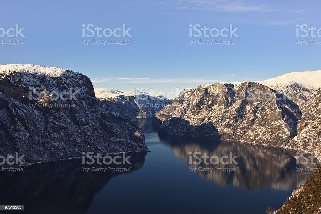 winterfjord royalty-free stock photo