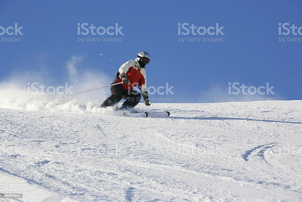 winterfun on a very cold day stock photo
