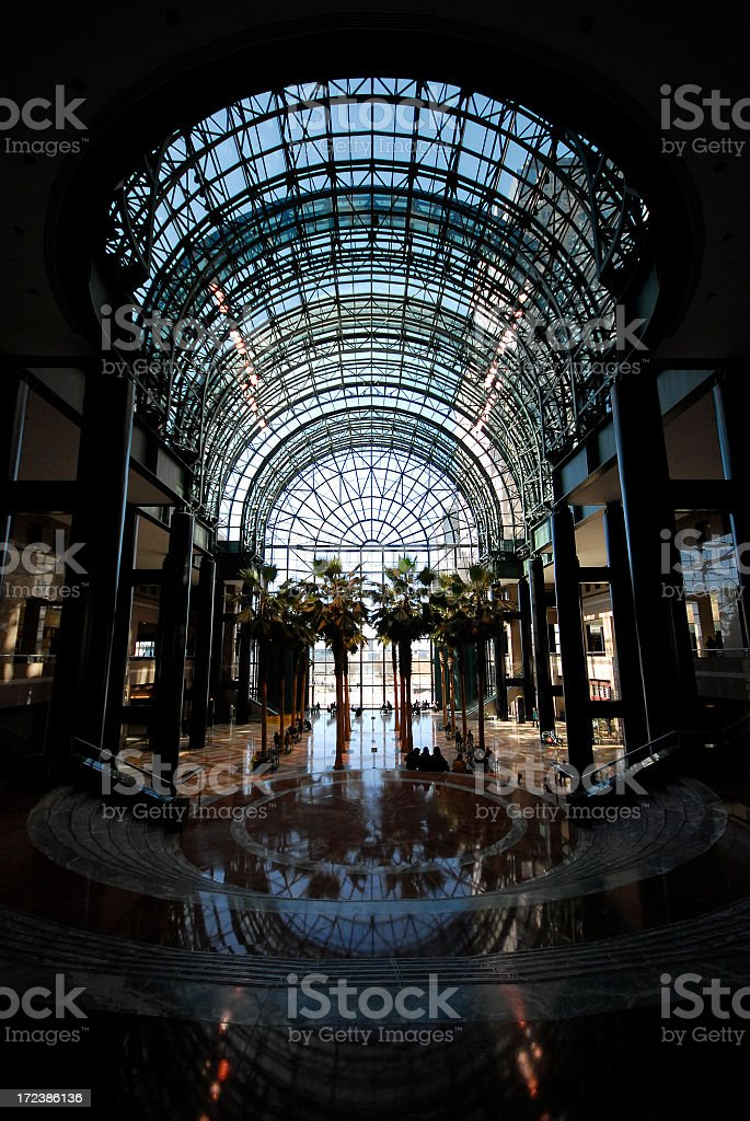 Wintergarden stock photo