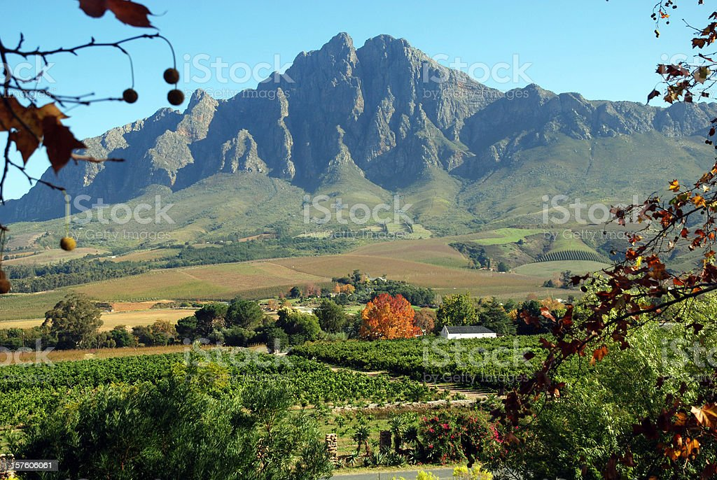 Winterhoek Valley royalty-free stock photo