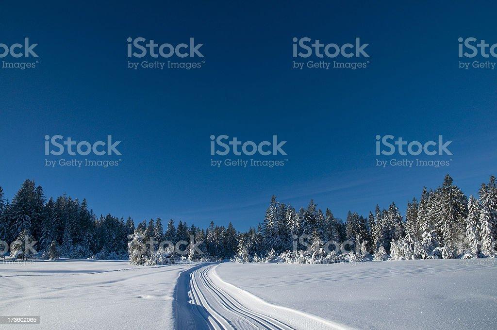 winterlandscape with ski track royalty-free stock photo