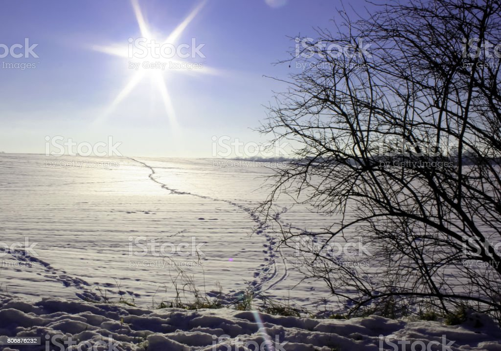 Winterlandschaft in Grevenbroich stock photo