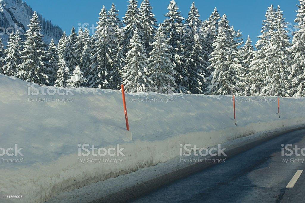 Winterly road royalty-free stock photo