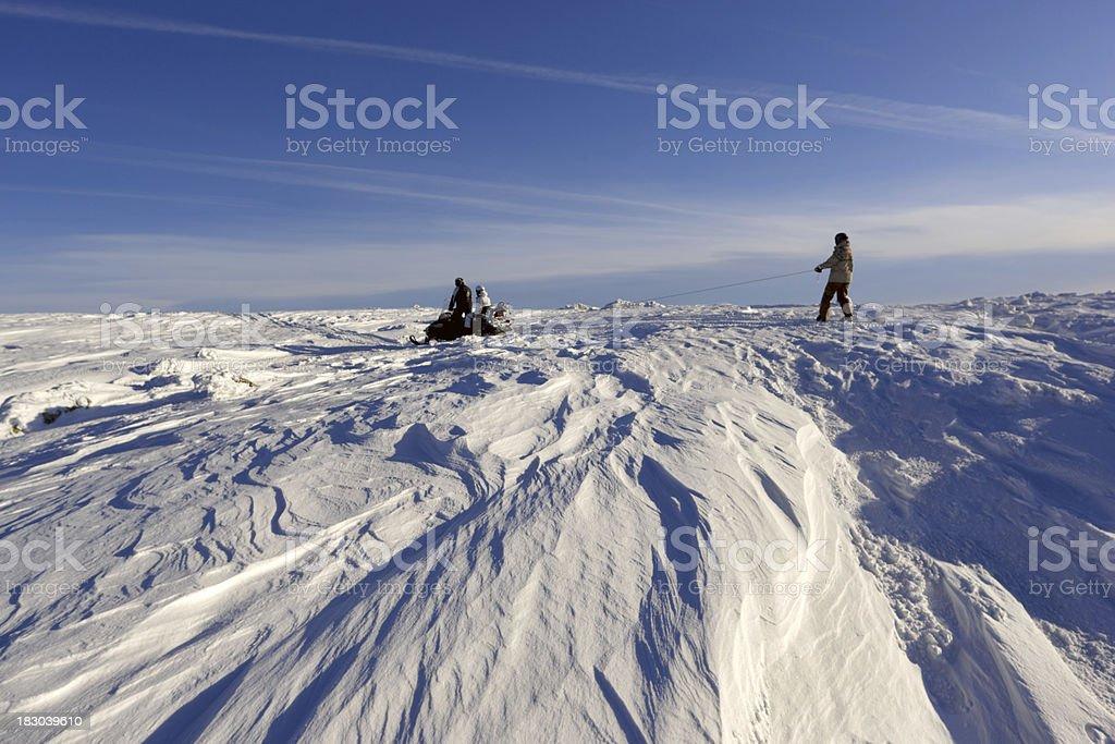Winterpark.  Sheregesh. royalty-free stock photo