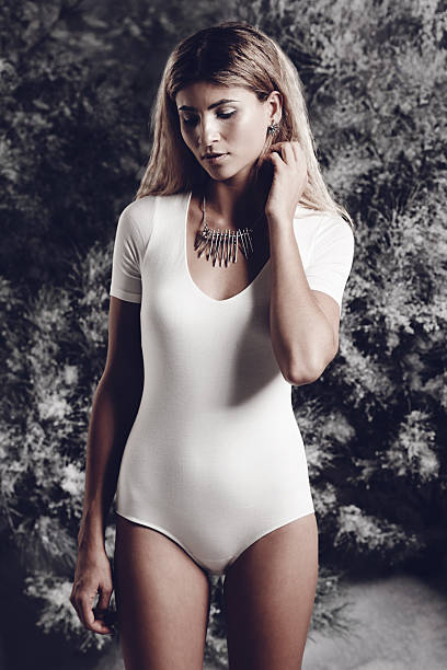 winter's beauty personified - leotard stock pictures, royalty-free photos & images