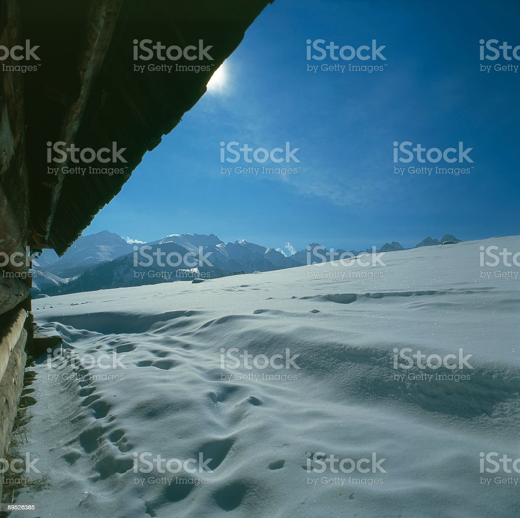 Winter's mountain scenery royalty-free stock photo