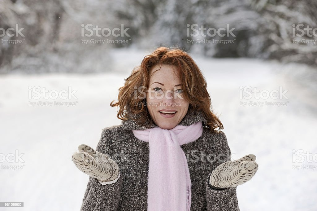 Winters portrait royalty-free stock photo