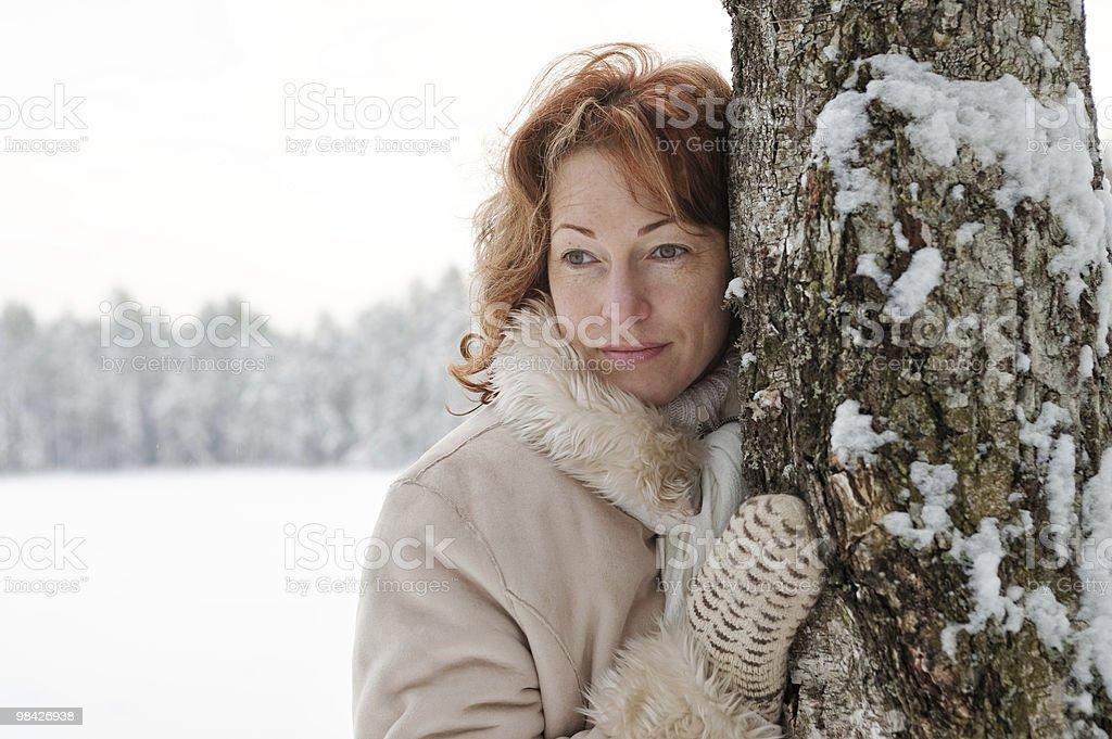Winters portrait royalty-free stock photo