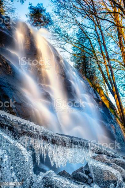 Photo of Winters waterfall