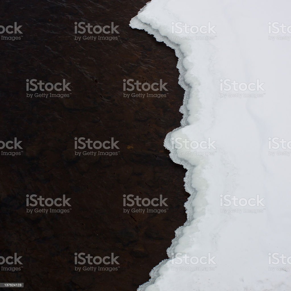 Winter's Yin and Yang royalty-free stock photo