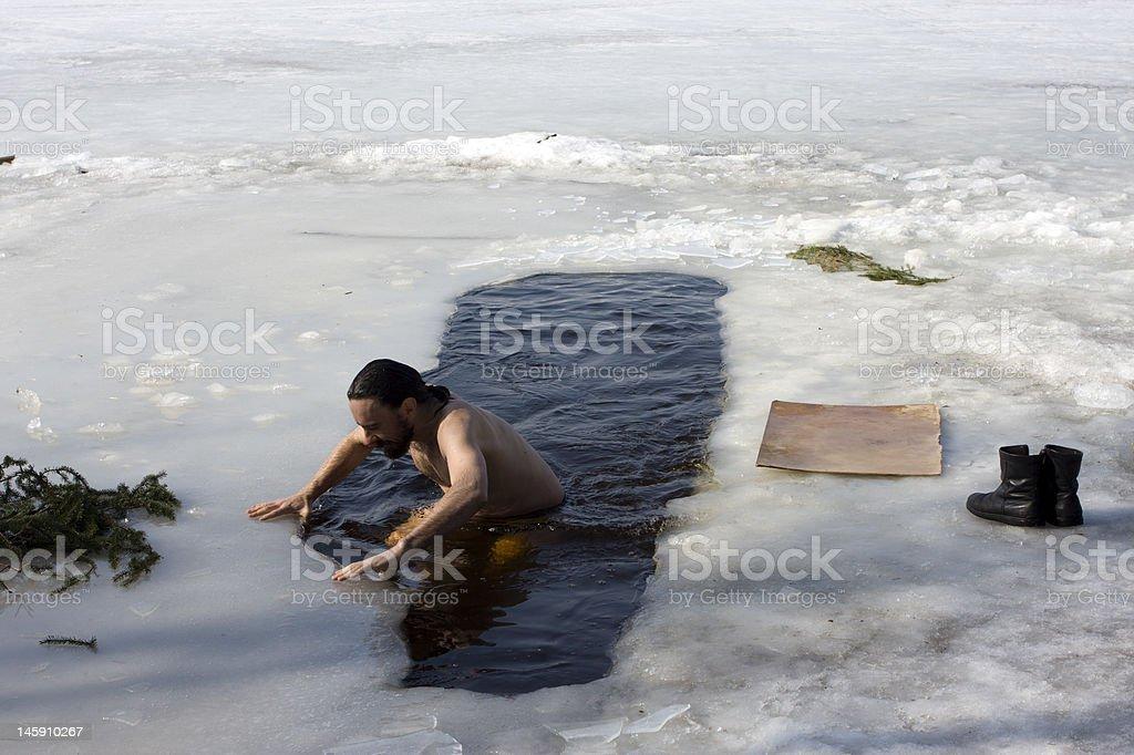 Winter-swimmer #2 stock photo