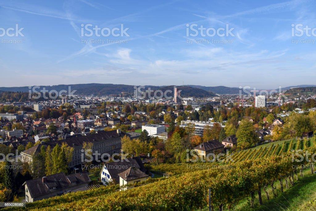 Winterthur Panorama stock photo