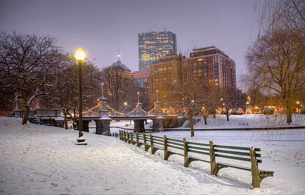 Wintertime in Boston stock photo