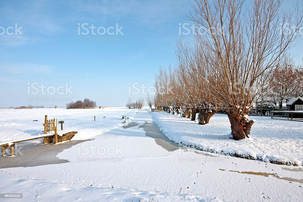 Wintertime in the countryside from Netherlands - Royalty-free Color Image Stock Photo