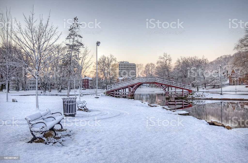 Wintertime in Worcester stock photo