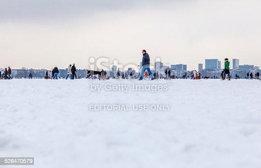 istock Wintertime on the frozen Lake Alster - Hamburg 526470579