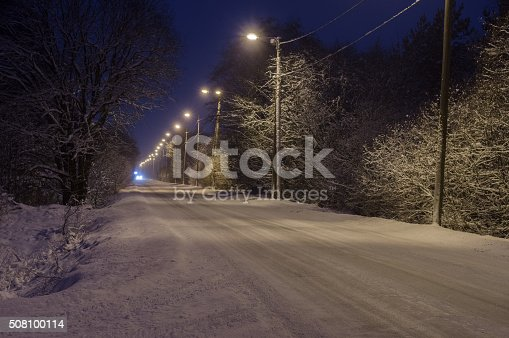 657042754 istock photo Winter-time rural road covered with snow 508100114