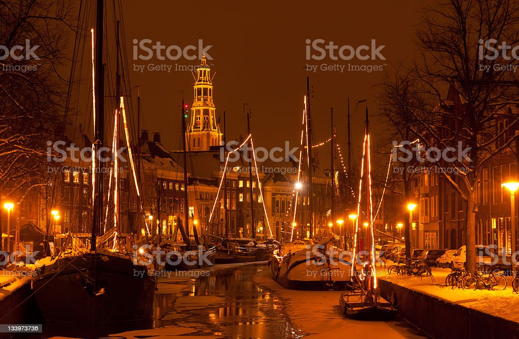 Winterwelvaart stock photo