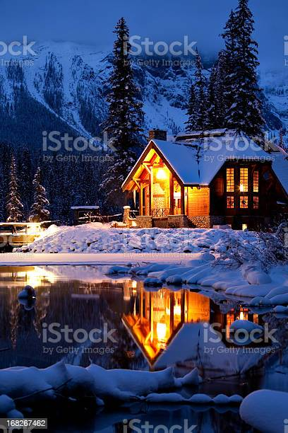Photo of Wintery Cabin Reflection