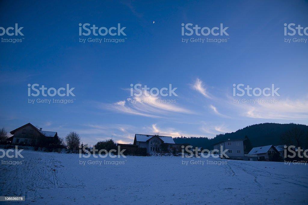 Wintery Evening royalty-free stock photo