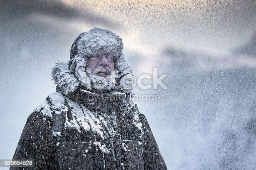 Snow, Winter, Mountain Climbing, Fur Hat, Snowflake, full beard
