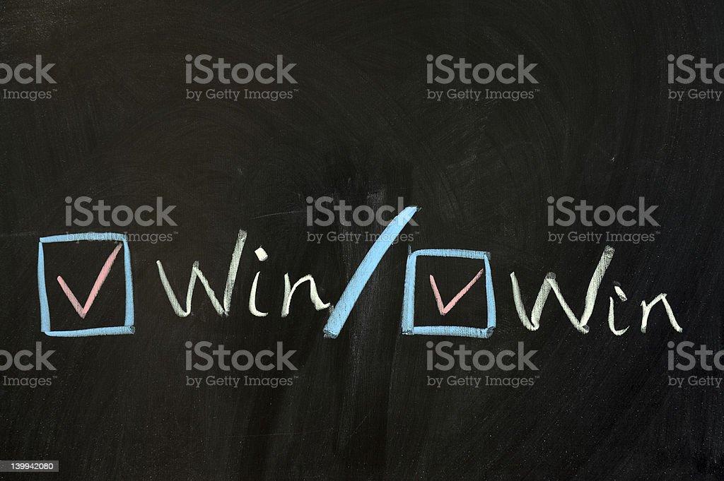 Win-win concept stock photo